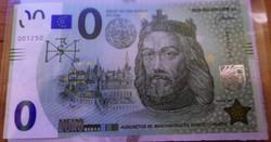 0 Euró Szent István Memo Euró Első Magyarkiadású bankjegy RR UNC
