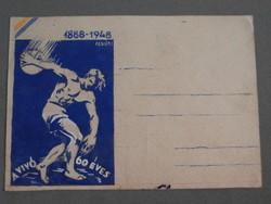 Levelelzőlap terv 1948 - Hódmezővásárhelyi Vívó és Torna Egylet
