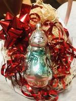 Régi retro antik üveg karácsonyfadísz ,kislány,királylány