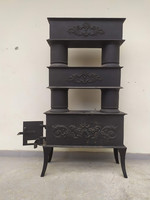Antik emeletes vaskályha hő vezetős vas kályha gyűjtői darab