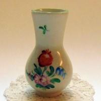 Herend-Tertia virágos kis váza 9 cm
