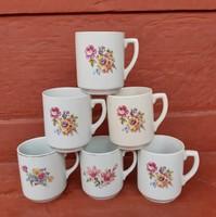 6  db Gyönyörű virágos Drasche Kőbányai bögre  bögre csomag egyben eladók Gyűjtői Gyönyörű szépségek