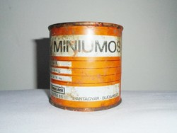 Retro festékes doboz - Míniumos olajfesték 901 - Budalakk gyártó - 1970-es évekből