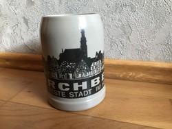 Kirchberg Die älteste Stadt im Hunsrück - MM jelzésű - kerámia sörös korsó  21.