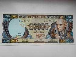 Ecuador 20000  sucre 1999 UNC
