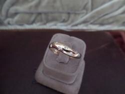 Brilles sárga arany gyűrű