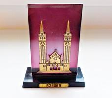 Retro Szeged lila plexi emlék