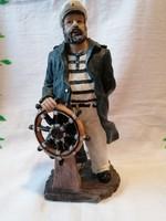 Synthetic resin ship captain sailor figure 20 cm