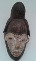 Antik patinás punu népcsoport afrikai maszk Afrika Gabon dob6