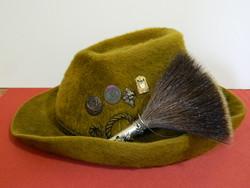 Gottfried Schätz német nyúlszőr vadász kalap kalapdíszekkel