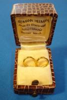 Arany karika fülbevaló pár (18K)