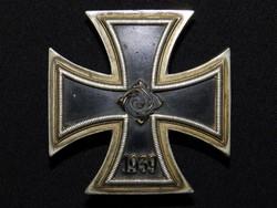 Német 2. VH Vaskereszt Iron Cross / Eisernes Kreuz EK1 C.E. Juncker, nem mágneses belső maggal