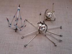 Régi üveg szemekből készített karácsonyfadísz  egyben 3-darab