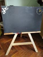 Retro rajz kréta tábla rajztábla krétatábla háromlábú kicsi fa tábla író tábla rajzoló fatábla