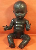 Antik angol Pedigree fekete síró baba!