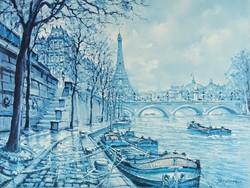 1C563 Párizsi nyomat : Eiffel torony 30 x 40 cm