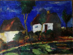 Koszta I.Tanya Olaj,vászon. Mérete:60x46 cm