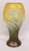 EREDETI Gyönyörű szép antik, Emile Gallé üveg váza 1900-as évekből