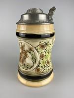 Ón fedeles Sitzendorf porcelán kupa / korsó