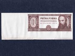 Táncsics Mihály próbaforma alapnyomat bankjegy 1973 ívszéllel (id13125)