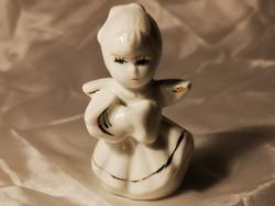 Régi porcelán angyalka karácsonyfa dísz