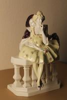 Keramos Wien fajansz figurális nagméretű lámpatest, szobor