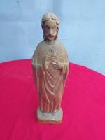 Jelzett fa Jézus szobor