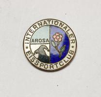 Nemzetközi jégsportklub Arosa jelvény/plakett.