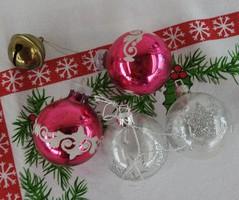 Karácsonyi dísz kollekció 2 : 5 db _  karácsonyfadísz gyűjteményből