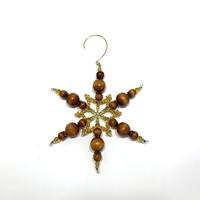 Gyöngy csillag karácsonyfadísz fa gyöngy karácsonyfa dísz kézműves termék
