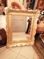 65x82 cm antik blondel keretben mutatós tükör