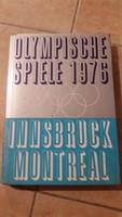 Insbruck Montreal 1976 Olympia,  német nyelvű sport  könyv veladó!