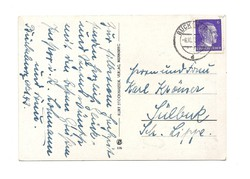 1943 Hitler fejes bélyeges Deutsches Reich Képeslap DR Németország virágok KIÁRUSÍTÁS 1 forintról