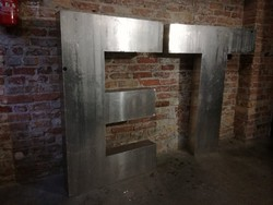 Fém tábla, ET tábla, felirat, plasztikus fém tábla, loft, dekoráció