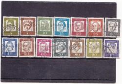 Németország forgalmi bélyegek 1961