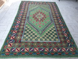 Ritkaság! Színes berber 195x320 kézi csomózású gyapjú szőnyeg MI_06