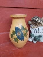 Régi  festett virágos, köcsög, szilke, nosztalgia darab, paraszti dekoráció, Gyűjtői szépség