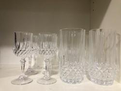 6 db-os Ünnepi gyönyörűen csiszolt kristály vizes pohár készlet