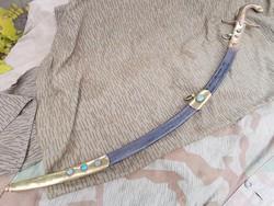 Bontatlan eredeti  díszmagyar szablya kard gyártójeles szép íves pengével