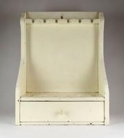 1C699 Antik festett fenyő tajtékpipa pipatórium pipatartó 6 db-os
