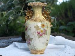Szecessziós fajansz váza