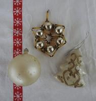 Karácsonyi dísz kollekció 18: 2 db _  karácsonyfadísz gyűjteményből ANTIK, szecis