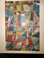 """Mozaik"" - Olajfestmény"