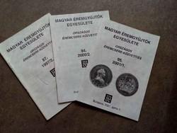 3 db Magyar Éremgyűjtők Egyesülete (id7287)