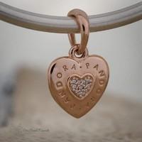Pandora Rose szív medál
