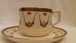 Sarreguemines fajansz teáscsésze alátét tányérjával