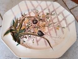 Antik angol BROWN-WESTHEAD, MOORE & CO (később Cauldon) fajansz tányér