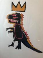 """Jean Michel Basquiat - szita """"Pez Dispenzer""""  Szignó + számozás +bélyegző a táblán"""