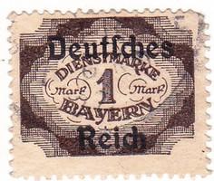 Német birodalom hivatalos bélyeg 1920