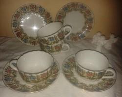 Sarreguemines 1186 v. szegfűs teás szettek/készlet